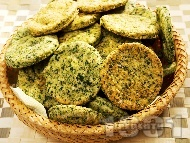 Солени бисквити със спанак